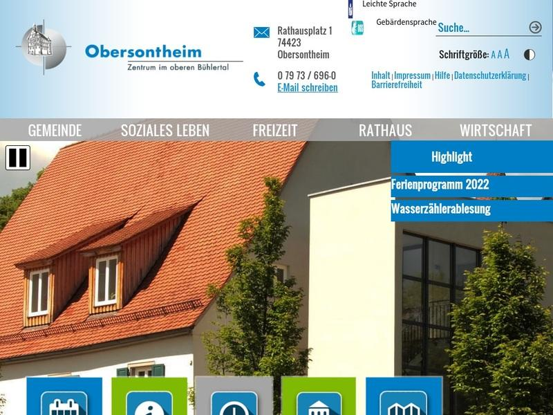 Screenshot von obersontheim.de